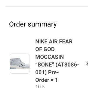 Nike x Fear of God Moc Moccasin confirm pre-order